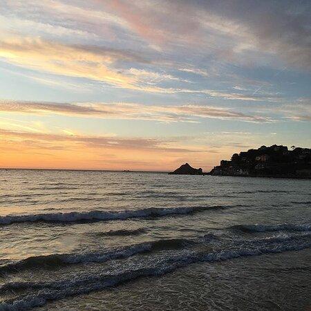 Morbihan, Ranska: Coucher du soleil à Plerneuf val André,  Bretagne