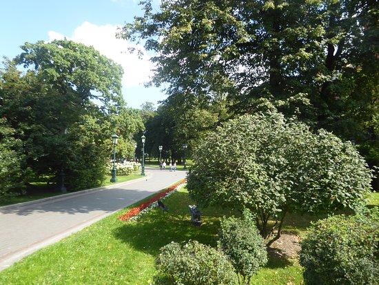 a walkway in the Alexander Garden