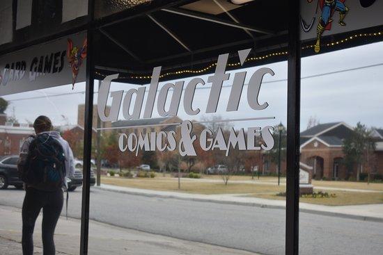 Statesboro, Geórgia: Galactic Comics & Games are a local source for comics, board games, collectible card games, and miniature wargaming. Stop by and grab the latest comics or participate in some fun, puzzling tournaments. Find Galactic Comics & Games on Facebook when you search @galactic.comicsandgames