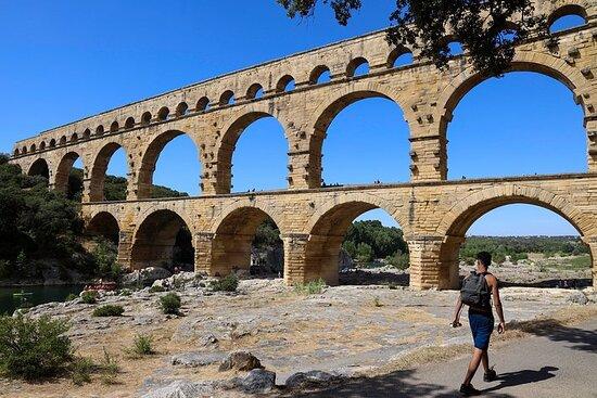Pont du Gard til Villeneuve Les Avignon & Châteauneuf du Pape vin...