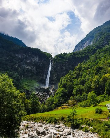 Nice valley and waterfall