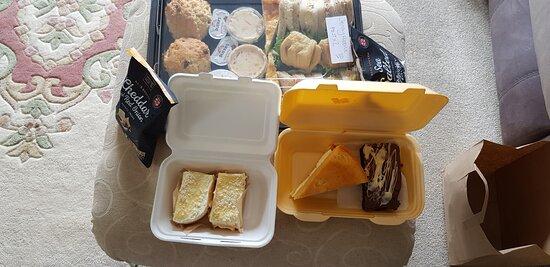 Afternoon tea delivered to door