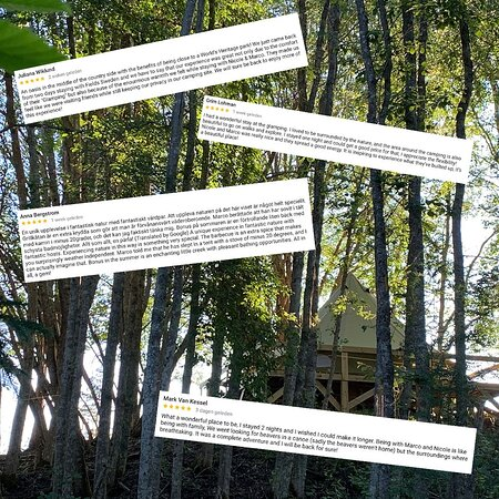 The High Coast, Suécia: Happy clients, they spend the holiday at Glamping Höga kusten