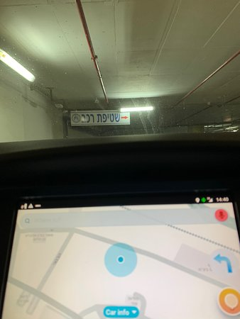 When you see the car wash sign, you'll know that you are in the correct parking garage.