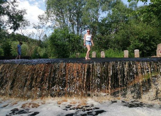 Novgorod Oblast, Ρωσία: Карамельный водопад