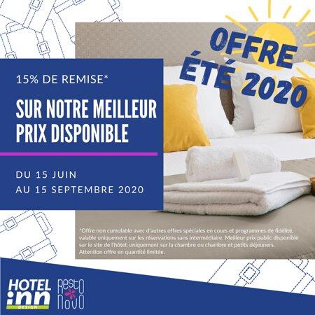 OFFRE ÉTÉ 2020 / Info et réservation auprès de l'hôtel.
