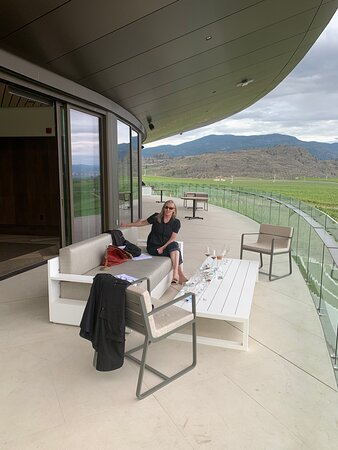 The private terrace for wine club members.