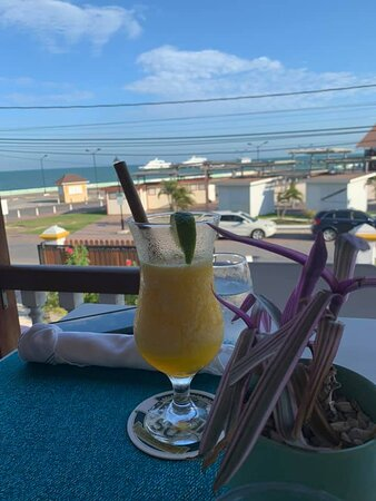Drinks on the patio--very reasonably priced