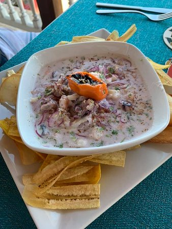 Seafood ceviche--huge and flavorful, tons of seafood