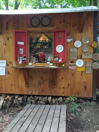 Here's where you place your orders at the Rail Trail Cafe