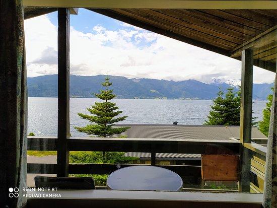 Vangsnes, Norveška: vista dal bungalow