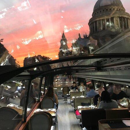 Gastronomic meal on a double-decker bus, Bustronome London