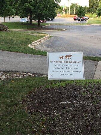 Seasonal caution sign