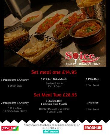 Here's our set menus