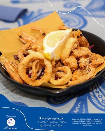 Frittura gamberi e calamari € 10.00