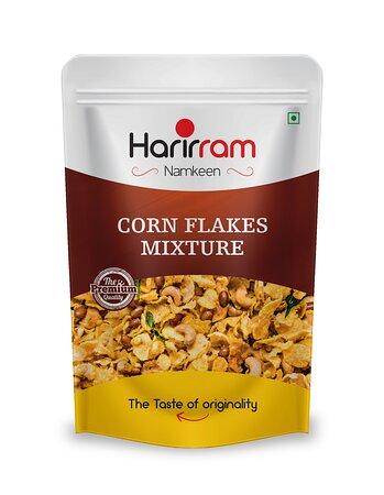 Madhya Pradesh, Índia: Corn Flakes Mixture – a special savory(namkeen) treat made with corn flakes