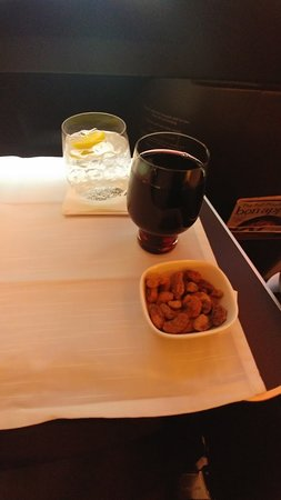Delta Air Lines: Nuts, wine, and water
