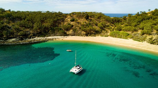 Of all of the beautiful anchorages around Great Keppel Island this one would have to be one of our favourites.  A sheltered, normally private beach all to yourself.  Walk straight off the beach or jump off the boat with your snorkelling gear and explore the fringing reef