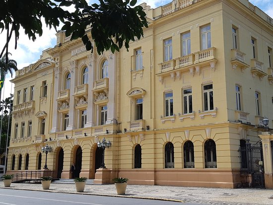 Historic building from the 19th century, current seat of the government of the state of Pernambuco. Important for Brazilian history, it is related to the libertarian ideals of the Pernambuco revolution, an important popular movement of 1817. Photograph of October 2018.