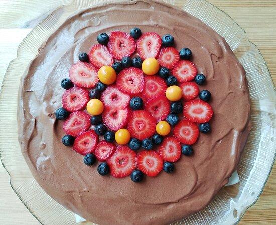 Venda do Pinheiro, Portugal: Tarte cremosa de chocolate