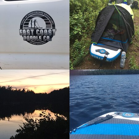 """Tusket, Canada: The evening sunset, comfy accommodations and the view from my """"office"""" on Saturday"""