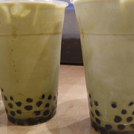 Macha bubble tea