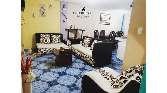 CASA DEL SOL Pimampiro- Imbabura- Ecuador  En Pimampiro te espera CASA DEL SOL, un lugar donde podrás alojarte con todas las comodidades necesarias, ya sea por viaje, turismo, visita familiar, trabajo, etc.  CASA DEL SOL te ofrece una estancia cómoda con 3 habitaciones adecuadas, sala, cocina comedor, baño, servicio de internet y tvcable. En Pimampiro podrás disfrutar además; de una deliciosa gastronomía, deportes extremos, compra de artesanías y la compañía de guías turísticos.