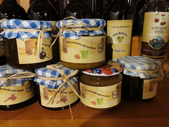 Hrvace, Horvátország: Izletiste Podastrana - homemade jam