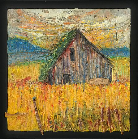 Encaustic Painting by Andrew Csafordi, Andrew Csafordi BARN Gallery and ANDARA Gallery, Prince Edward County, Ontario, CANADA.