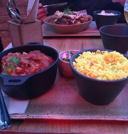 Our delicious main course. Oxtail Potjie & Durban Beef Curry