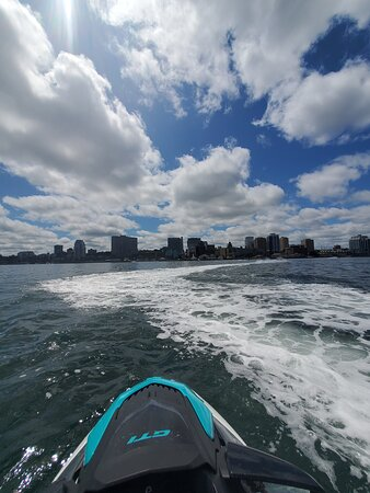Sea-Doo Tours: Picture of the waterfront from the middle of the Harbor