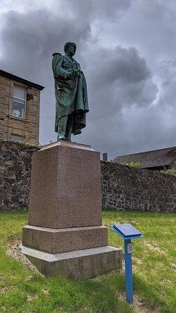Irvine Heritage Trail - Lord David Boyle statue