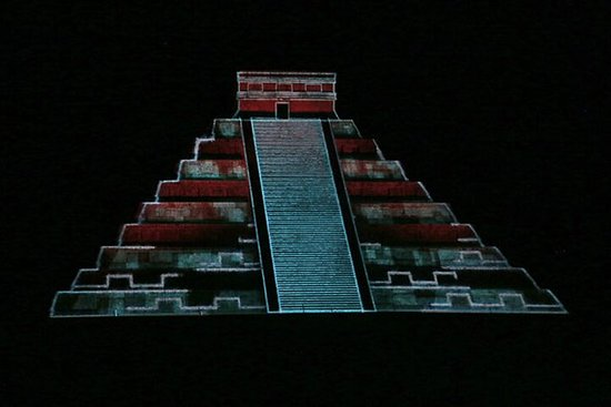 Light and Sound Show in Chichen Itza...
