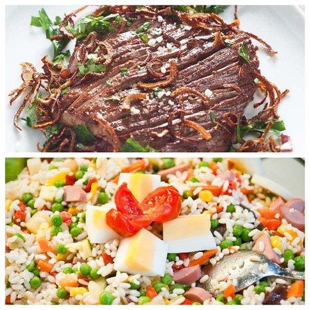 Martinique: bavette poêlée Salade de riz 10€ bon appétit (57 Rue Isambert 97200 Fort de France)