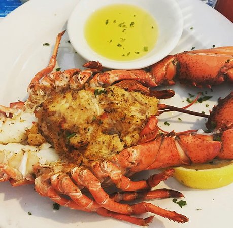 Oves Restaurant - 1.5 lb. whole lobsters stuffed with homemade crab cake