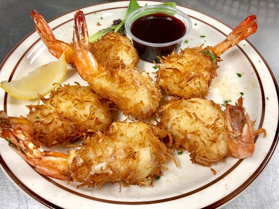 Oves Restaurant - Coconut Shrimp with Raspberry Melba Dipping Sauce