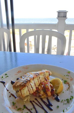 Oves Restaurant - Southwest Halibut dinner entree