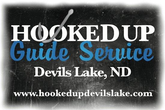 Devils Lake, ND: Hooked Up Logo