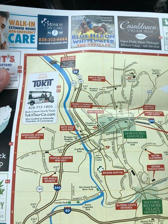 Tukit Tour Company Asheville NC. Find us on the Illustrated Map of Asheville