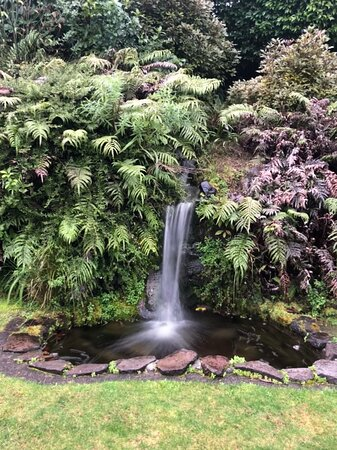 Mini water fall at the front yard garden