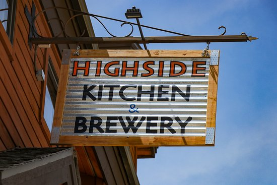 Sign outside highside