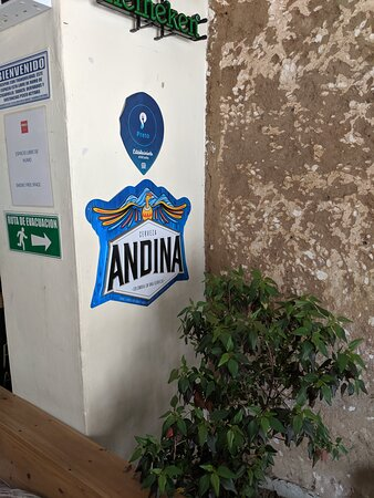 Andian sign at the  Panela Hostel.