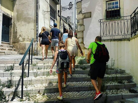 Another great group on another great tour through Alfama and Mouraria led by Mónica today :) Travelling restrictions are being gradually lifted all over and Lisbon is ready to host tourism again. If you want to tour Lisbon in safety contact us for more information and book one of our tours :) #lisbon #tourism #freetour @ Lisbon, Portugal