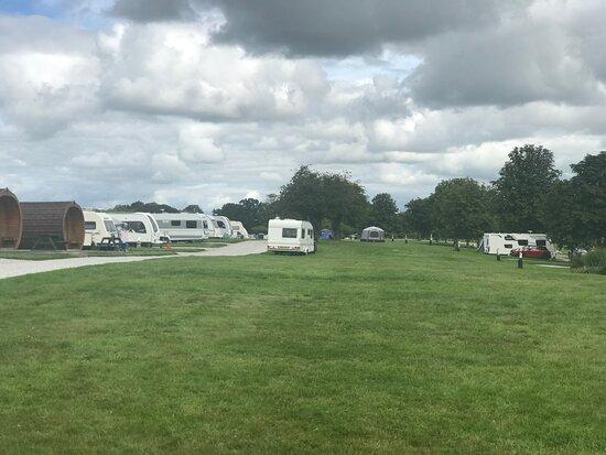 Large field for caravans , motor homes and camper vans with EHU