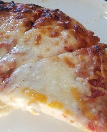 Alto Pass, IL: Cheese pizza at the winery