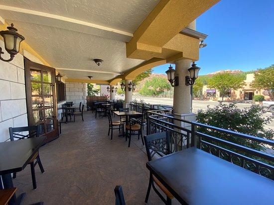 Enjoy al fresco breakfast daily on our popular patio.