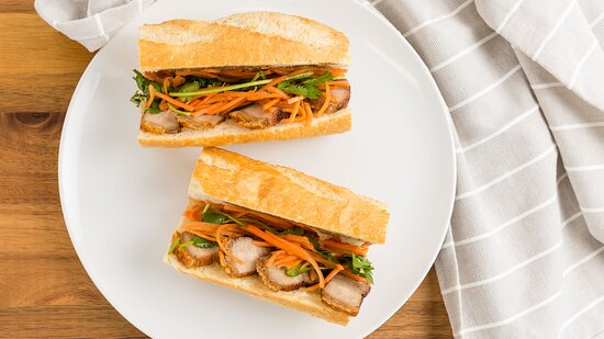 Crispy Pork Belly Banh Mi