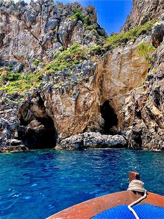 Corfu, Greece: Cave in Paleokastritsa