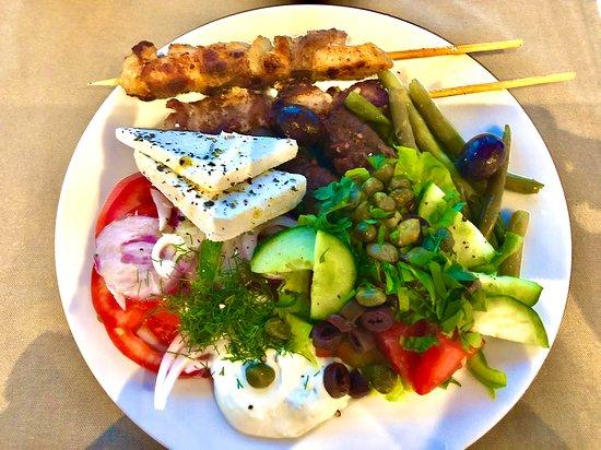 Corfu, Greece: Great Greek lunch, Almyros Beach Resort & Spa, Acharavi