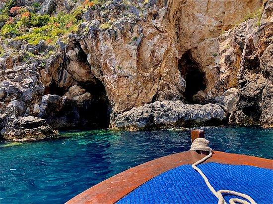 Corfu, Greece: Beautiful cave in Paleokastritsa bay